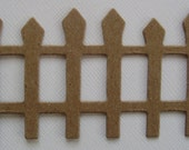 PiCKET FENCE - Raw Unfinished CHiPBOARD Die Cuts - Halloween