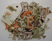 """A R C H A I C   Designs - Chipboard Alphabets - 52 Letters with Frog & Tag Die Cuts - 1.5"""""""
