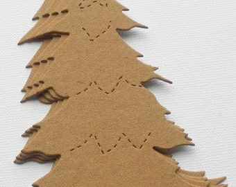 4 PiNE TREES Raw CHiPBOARD Bare Die Cuts