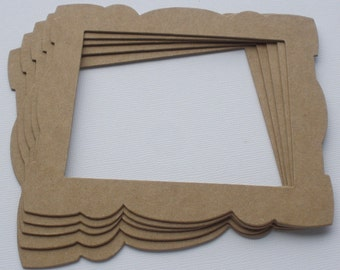 3 DECORATIVE Frames Raw CHiPBOARD Bare Die Cuts