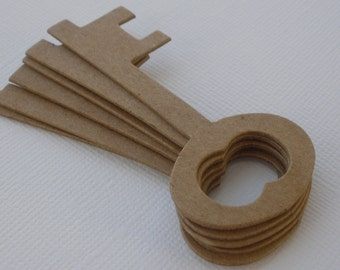 6 KEYS - Raw CHiPBOARD Bare Die Cuts