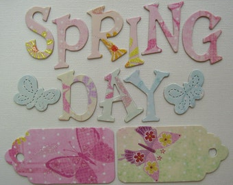 SPRING DAY -  Best Creations GLiTTER Chipboard Letters 1.5 inch - Butterflies