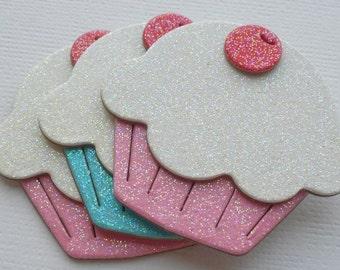 SPRiNKLE MiX - Glitter Sugar Coated Cupcakes - Chipboard Die Cuts