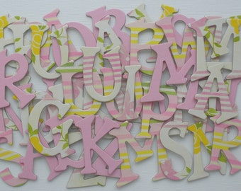 """BABY GiRL -  Precious Pink Chipboard Letters & Alphabet Die Cuts  1.5"""" Tall"""