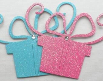 "4 BRiTE BiRTHDAY GiFTS -  Glitter Chipboard Embellishments - 3 1/2"" x 4 1/4"""