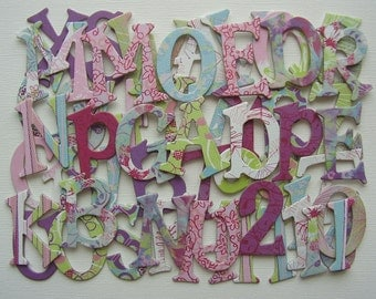 E U P H O R I C   Designs - Chipboard Alphabets - 52 Letters with Heart Die Cuts - 1.5""
