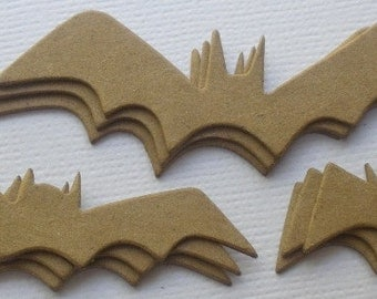 9 BATS Gothic -  Halloween Raw Bare Unfinished Chipboard Die Cuts