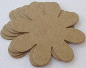 DAISY FLOWERS Chipboard Die Cuts - Bare Daisies Flower Diecuts -  3  inch