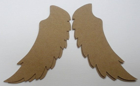 ANGEL WiNGS - Style 1 - Raw CHiPBOARD Bare Die Cuts Shapes