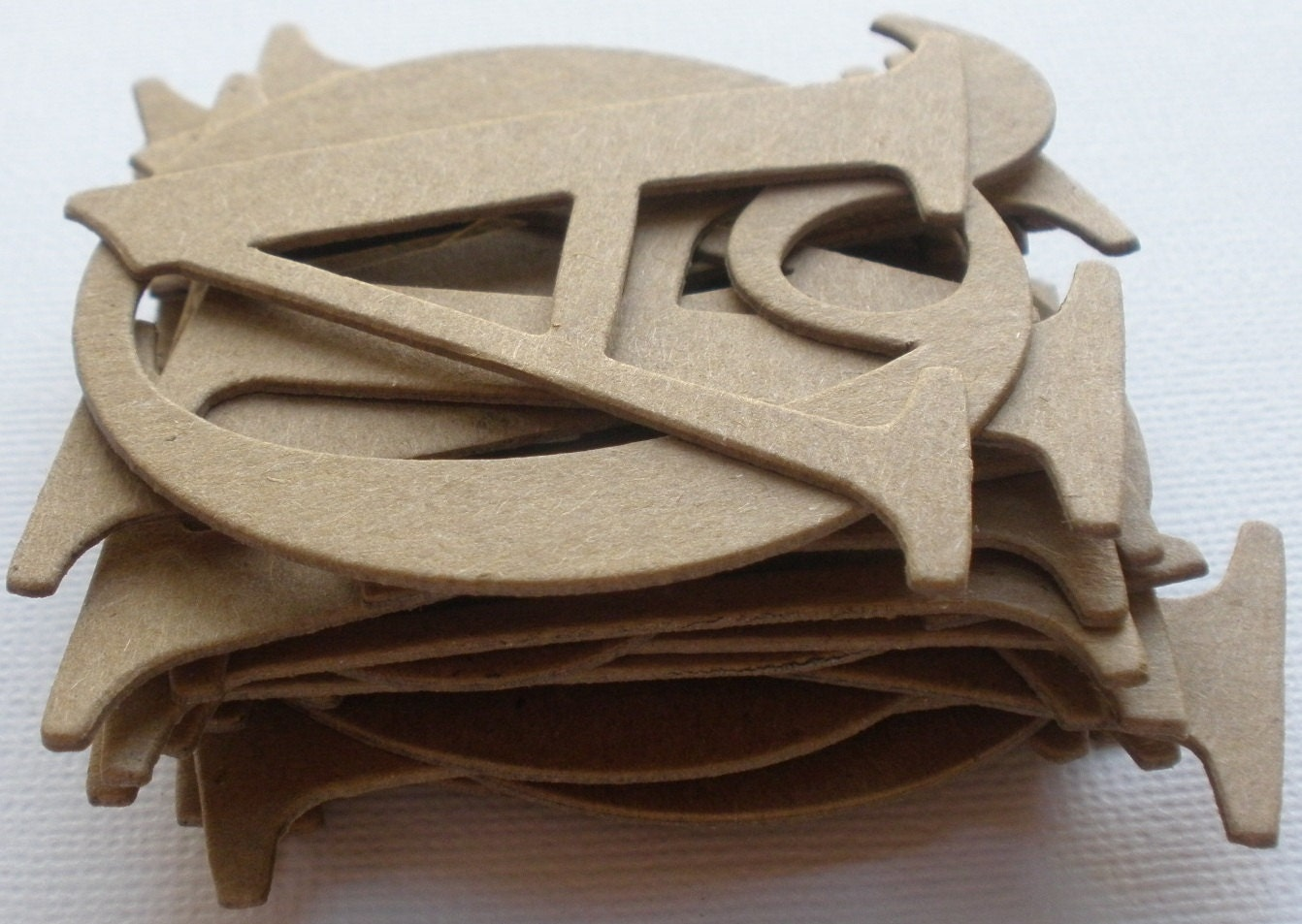 2 inch elegant serif chipboard letters uppercase With chipboard letters