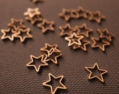 20 pieces of newly made raw brass tube outline charm in tiny star shape 8mm