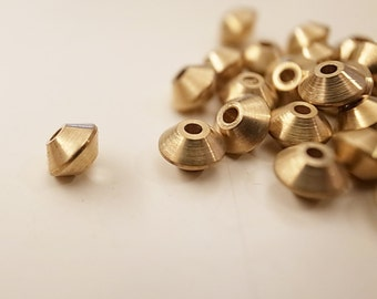 14.2 g aroubd 50 pieces of tiny solid raw brass bead saucer disc shape spacer 5mm