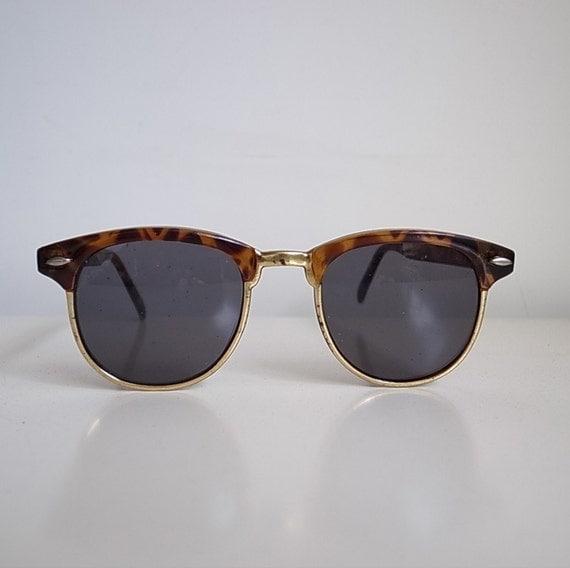 Tortoise Shell Glasses Half Frame : Vintage tortoise shell pattern half frame square by ...