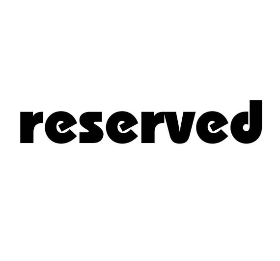 reserved for BluHour
