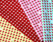 Tiny Strawberry print 4 colors to choose (HB6)