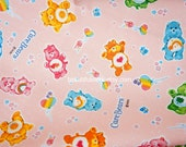 LAST piece Care Bears Fabric 70  cm by 106  cm or 27.5  by 42  inches