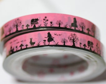 27 yard long  1 pcs Alice In Wonderland story Theme Japanese Decoration Tape