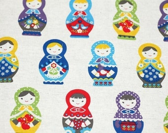 Kawaii Japanese Cotton Linen fat quarter last piece nc52