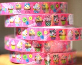1 Pc Yummy cupcakes Japanese Decoration Tape