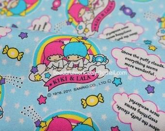 Sanrio Japan Licensed  Fabric Twin little stars kiki and lala sweet land Half meter