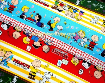 Snoopy Print Japanese Fabric 50 cm by 106 cm or 19.6 by 42 inches