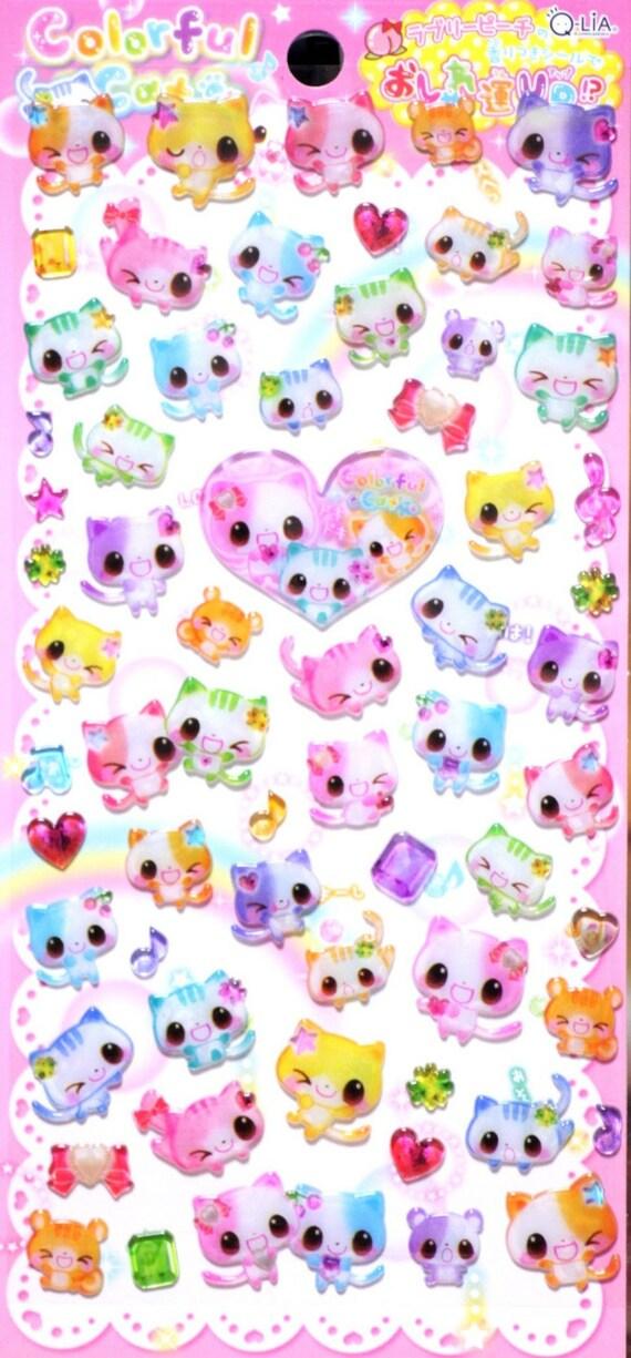 kawaii Japanese Sticker by Qlia  Colorful Cats