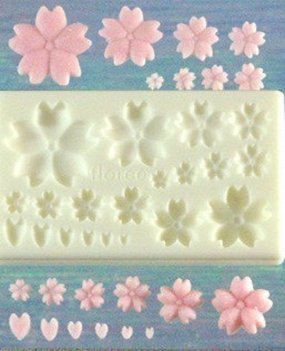 Beautiful Sakura Flower Kawaii Extremely Finely Detailed Japanese Resin or Resix Clay Mold for making miniature pieces