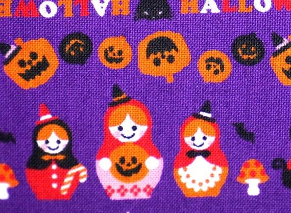 Halloween theme Japanese fabric (trick and treat  )  Half meter
