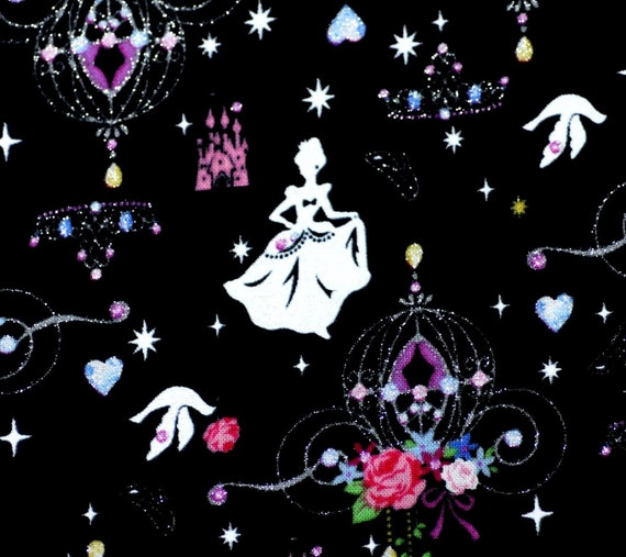 Kawaii Gothic Lolita Print Princess Castle one yard