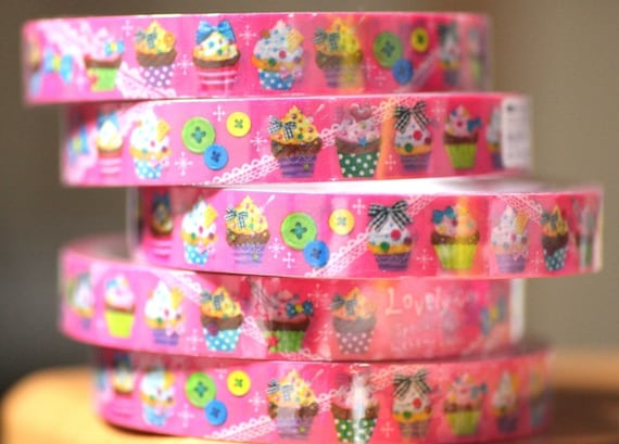 1 piece Yummy cupcakes Japanese Decoration Tape