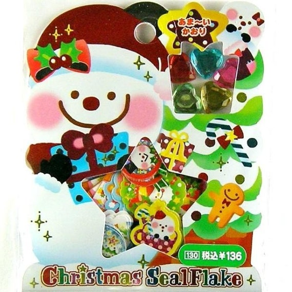 Christmas Sticker flakes collections