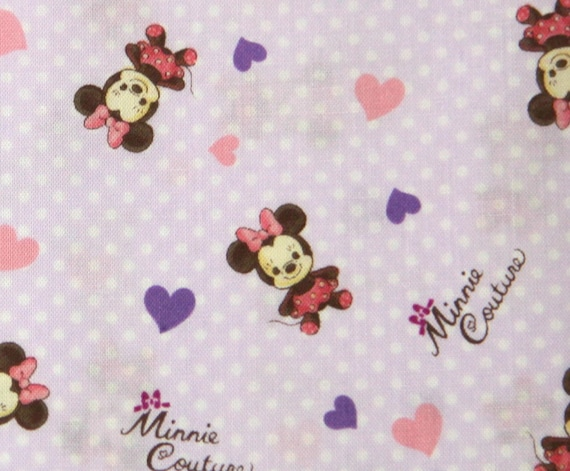 Disney Cartoon Minnie  Mouse  Print Japanese fabric