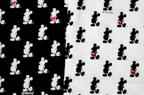 Mickey Mouse  fabric  black and white combo