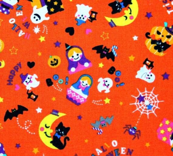 Halloween theme Japanese Fabric