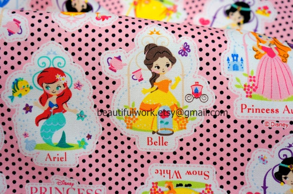 Disney Fabric Disney Princess Print