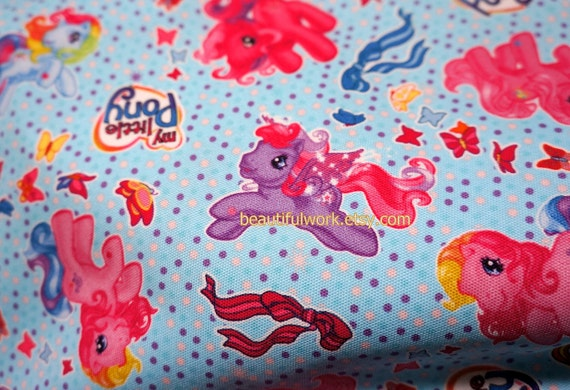 My Little Pony Fabric blue set of two pieces 55 cm by 106 cm and 46 cm by 106cm