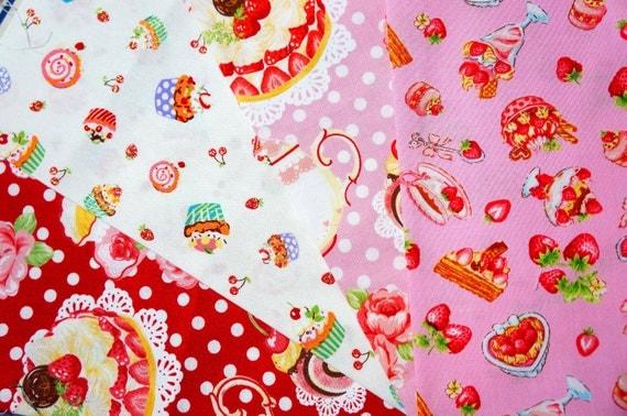 Kawaii fabric  Japanese fabric scrap  JAN112