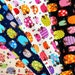 Glittery  Fabric colorful sheep print Fabric scrap