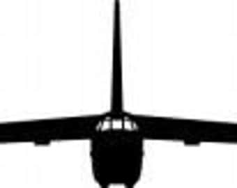 B 52 Stratofortress Bomber Premium Vinyl Wall Decal Graphic Front View
