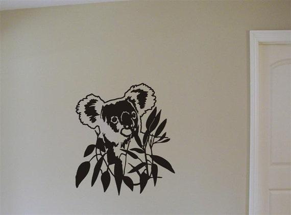Koala Bear Vinyl Wall Graphic in Bamboo Tree