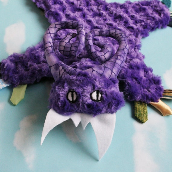 Minky Security Blanket - Mini Monster Ruggle