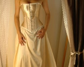 Amelia - Cream and ivory corset gown