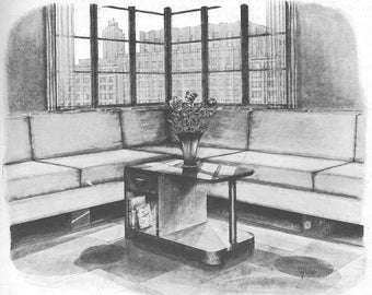 Vintage 1937 Art Deco MODERN Coffee Table  Wood Work Plans PDF