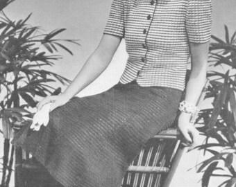 Vintage 1930s Suit Dress Crochet Pattern PDF 3913