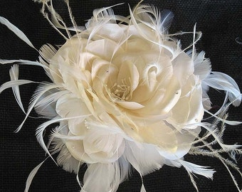 Large silk rose with pin