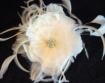 Feather crystal flower