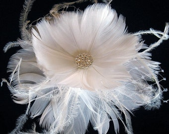 Feather flower clip