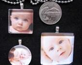 Custom baby or child photo pendant