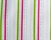 Original Fabric - Dashed Stripe - Fat Quarter - Pink and Blue