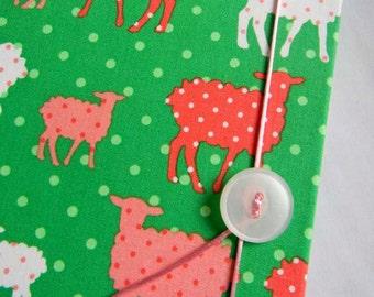 SALE Accordion Book - Modern Whimsy Lambs